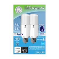 GE LED Bright Stik Daylight Bulb - 2 Pack from Blain's Farm and Fleet