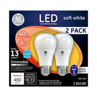 GE Dimmable LED Bulb - 2 Pack from Blain's Farm and Fleet
