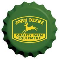 John Deere Bottle Cap Embossed Sign from Blain's Farm and Fleet
