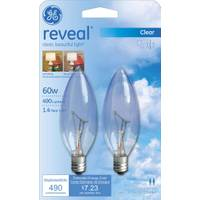 GE Reveal Blunt Tip Candelabra Base Bulb from Blain's Farm and Fleet