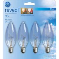 GE Reveal Blunt Tip Bulbs - 4 Pack from Blain's Farm and Fleet