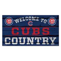 WinCraft Chicago Cubs Country Wood Sign from Blain's Farm and Fleet