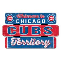 WinCraft Chicago Cubs Welcome Fence Sign from Blain's Farm and Fleet