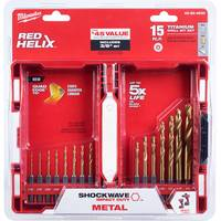 Milwaukee 15-Piece Shockwave Drill Bit Kit from Blain's Farm and Fleet