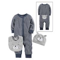 Carter's Infant Boys' Blue Stripe3-Piece Layette Set from Blain's Farm and Fleet