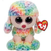 Ty Beanie Boo Med Rainbow the Poodle from Blain's Farm and Fleet