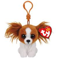 Ty Beanie Baby Clip Barks the Brown Dog from Blain's Farm and Fleet