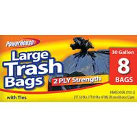 Powerhouse 30 Gallon Trash Bags - 8 Count from Blain's Farm and Fleet