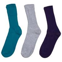 Huffman Hosiery Women's Cuff Crew 4x2 Rib Socks -  3 Pairs from Blain's Farm and Fleet