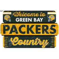 WinCraft Green Bay Packers Welcome Fence Sign from Blain's Farm and Fleet