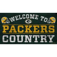 WinCraft Green Bay Packers Country Wood Sign from Blain's Farm and Fleet