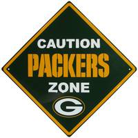 Siskiyou Green Bay Packers Caution Sign from Blain's Farm and Fleet