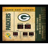 Team Sports America Green Bay Packers Ticket Stub Clock from Blain's Farm and Fleet