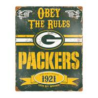 The Party Animal Green Bay Packers Embossed Metal Sign from Blain's Farm and Fleet