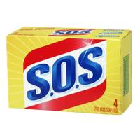 S.O.S. 4 Count Steel Wool Soap Pads from Blain's Farm and Fleet