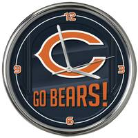 The Memory Company Chicago Bears Go Team Chrome Clock from Blain's Farm and Fleet