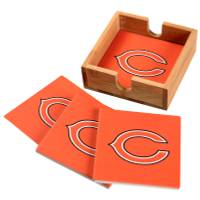 The Memory Company Chicago Bears Square Ceramic Coasters - 4 Pack from Blain's Farm and Fleet