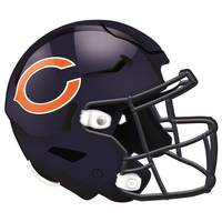 Fan Creations Chicago Bears Distressted Helmet Cutout from Blain's Farm and Fleet