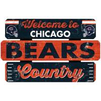 WinCraft Chicago Bears Welcome Fence Sign from Blain's Farm and Fleet