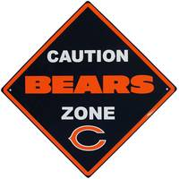 Siskiyou Chicago Bears Caution Wall Sign Plaque from Blain's Farm and Fleet