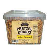 Gourmet Select 32 oz Butter Braided Pretzel Tub from Blain's Farm and Fleet