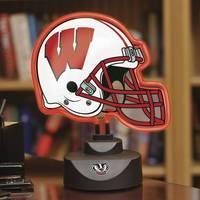 The Memory Company Wisconsin Badgers Neon Helmet Lamp from Blain's Farm and Fleet