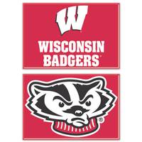 WinCraft Wisconsin Badgers Magnets - 2 Pack from Blain's Farm and Fleet