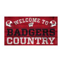 WinCraft Wisconsin Badgers Country Wood Sign from Blain's Farm and Fleet