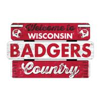 WinCraft Wisconsin Badgers Welcome Fence Sign from Blain's Farm and Fleet