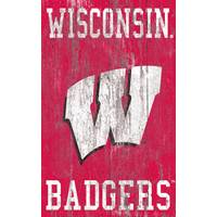 Fan Creations Wisconsin Badgers Heritage Logo Sign from Blain's Farm and Fleet
