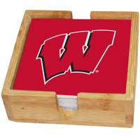 The Memory Company Wisconsin Badgers Square Ceramic Coasters - 4 Pack from Blain's Farm and Fleet
