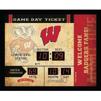 NCAA Wisconsin Badgers Blue Tooth Ticket Stub Clock from Blain's Farm and Fleet