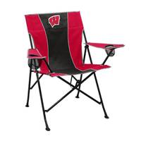 Logo Chairs Wisconsin Badges Pregame Chair from Blain's Farm and Fleet