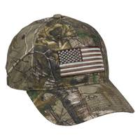Outdoor Cap Men's Realtree Xtra Camo Flag Embroidery Cap from Blain's Farm and Fleet