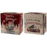 Lindy Bowman, Co. Kraft Square with Hot Stamp Box - Size 2 Assortment from Blain's Farm and Fleet
