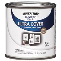 Rust - Oleum 1/2 Pint Painter's Touch Flat White Latex Paint from Blain's Farm and Fleet