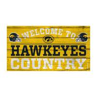 WinCraft Iowa Hawkeyes Country Wood Sign from Blain's Farm and Fleet