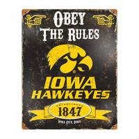 Party Animal Iowa Hawkeyes Embossed Metal Sign from Blain's Farm and Fleet