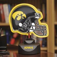 The Memory Company Iowa Hawkeyes Neon Team Helmet Lamp from Blain's Farm and Fleet