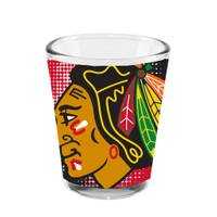 The Memory Company Chicago Blackhawks Shot Glass from Blain's Farm and Fleet