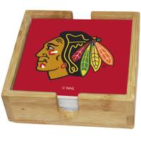 The Memory Company Chicago Blackhawks Square Ceramic Coasters - 4 Pack from Blain's Farm and Fleet