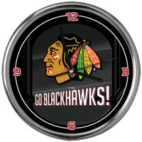 The Memory Company Chicago Blackhawks Go Team Chrome Clock from Blain's Farm and Fleet