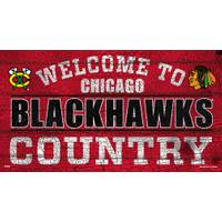 All Star Sports Chicago Blackhawks Country Wood Sign from Blain's Farm and Fleet