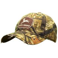 John Deere Men's Mossy Oak Camouflage Vintage Logo Patch Cap from Blain's Farm and Fleet