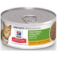 Hills Science Diet 5.5 oz Youthful Vitality Adult 7+ Chicken & Vegetable Entree Cat Food from Blain's Farm and Fleet