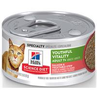 Hills Science Diet 2.9 oz Youthful Vitality Adult 7+ Salmon & Vegetable Stew Cat Food from Blain's Farm and Fleet