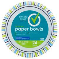Simply Done Designer Paper Bowls from Blain's Farm and Fleet