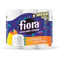 Fiora Ultra Soft & Strong Bath Tissue Mega Rolls - 9 Pack from Blain's Farm and Fleet