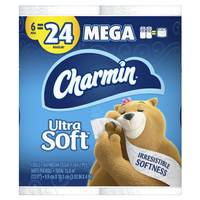 Charmin Ultra Soft Mega Roll - 6 Pack from Blain's Farm and Fleet