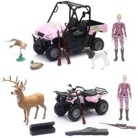 New Ray Wildlife Hunting 1:12 Hunting Set with Pink Camo Vehicle and Female Figure Assortment from Blain's Farm and Fleet